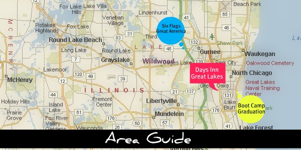 Area Guide Days Inn Great Lakes Hotel I Hotels Near